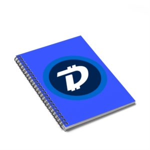 DigiByte Logo Spiral Notebook – Ruled Line