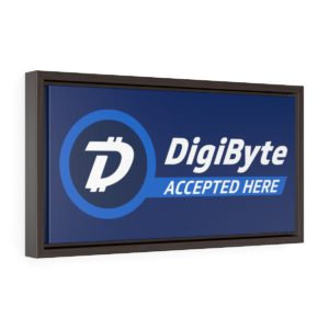 DigiByte Accepted Here Framed Canvas