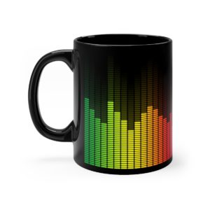 Music Equalizer Black Mug 11oz