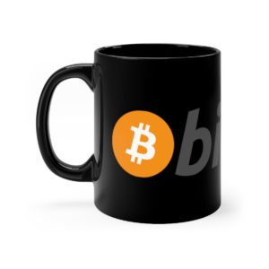 Bitcoin Black Mug 11oz