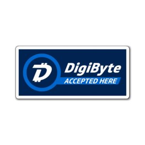DigiByte Accepted Here (Horizontal) Magnets