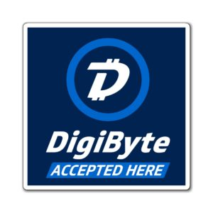 DigiByte Accepted Here (Square) Magnets