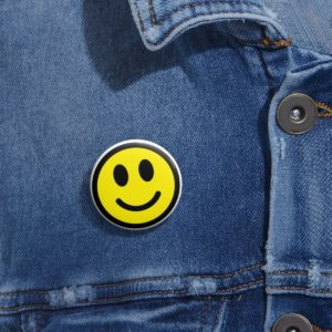 Happy Face Pin Buttons