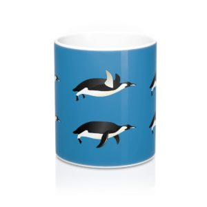Penguins Swimming Mug 11oz