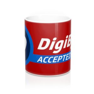 DigiByte Accepted Here (RED) Mug 11oz
