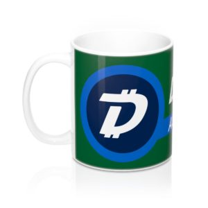 DigiByte Accepted Here (GREEN) Mug 11oz