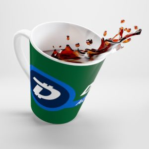 DigiByte Accepted Here (GREEN) Latte mug
