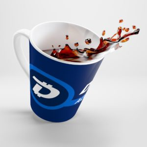 DigiByte Accepted Here Latte mug