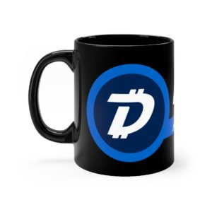 DigiByte Accepted Here (BLACK) Mug 11oz