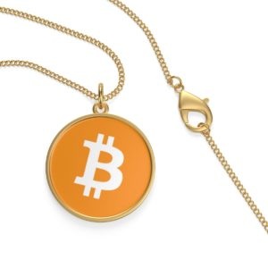 Bitcoin Single Loop Necklace