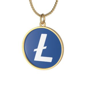 Litecoin Single Loop Necklace