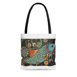 Mosaic Fish AOP Tote Bag