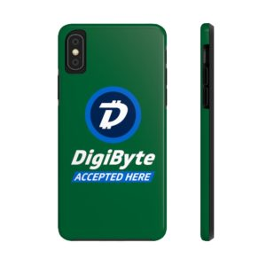 DigiByte Accepted Here (GREEN) Case Mate Tough Phone Cases