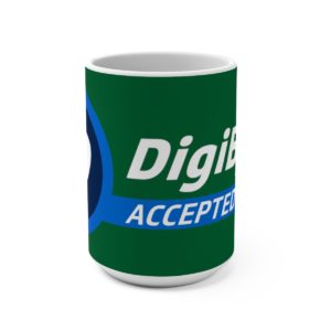DigiByte Accepted Here (GREEN) Mug 15oz