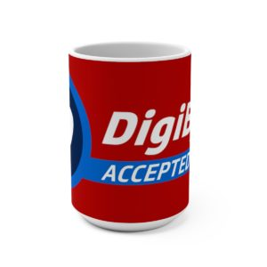DigiByte Accepted Here (RED) Mug 15oz
