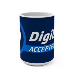 DigiByte Accepted Here Mug 15oz