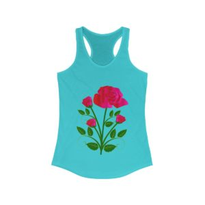 Flower Bouquet Women's Ideal Racerback Tank