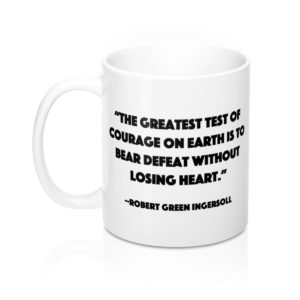 DGB 'Courage' Quote Mug 11oz