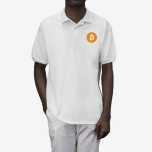 Bitcoin Logo Men's Polo Shirt