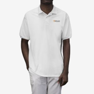 Bitcoin 'Accepted Here' Men's Polo Shirt
