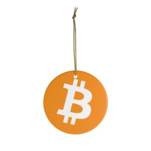 Bitcoin Logo Ceramic Ornament