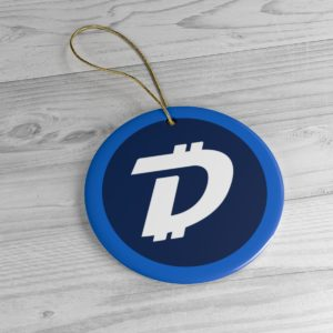 DigiByte Logo Ceramic Ornament