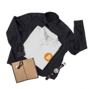 Bitcoin Logo Men's Polo Shirt