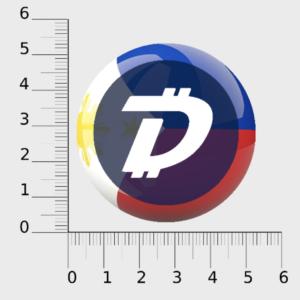 PH Flag DGB Logo Sticker (PH)
