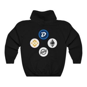 HODL Assets Black Hoodie with Blockchain Logos!