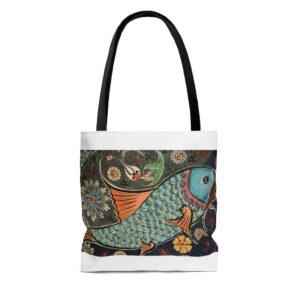 Mosaic Fish AOP Tote Bag